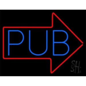 Image of Pub Sign with Arrow