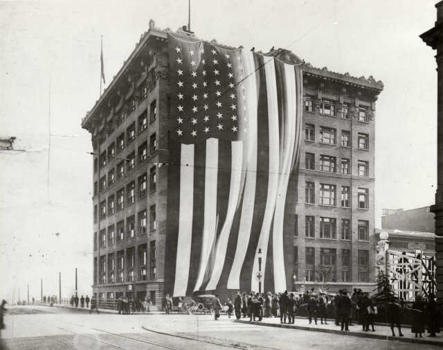 Celebrating the Armistice agreements in Tacoma, November 11, 1918