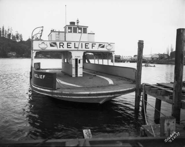"Washington Navigation Co. ferry ""Relief,"" November 1930"