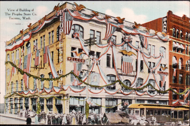 People's Store Postcard, 1909, front