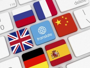 Translate languages online button