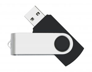 Black foading thumb drive with clipping path