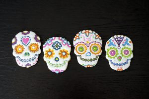 Decorated Day of the Dead cookies
