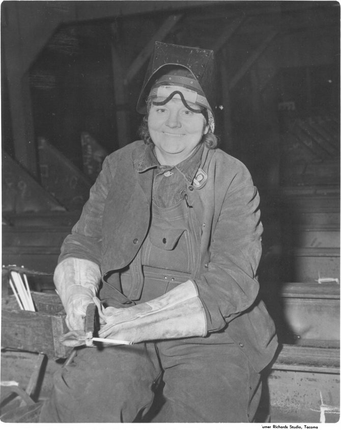 Image of a woman welder