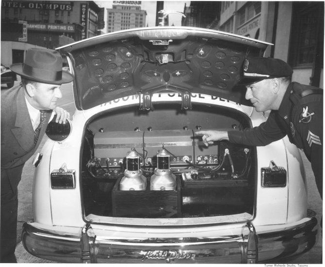 Image of TPD's crash prevention car